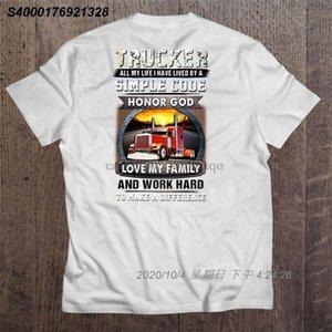 Camionneur Toute ma vie j'ai vécu par un simple code d'honneur Dieu aime ma famille Version Blanche T-shirt femme 473510