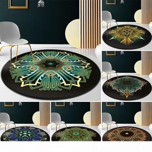 120cm Round Carpet for Living Room Mandala Floor Mat for Kids Room Anti Slip Rugs Home Bedroom Foot Pads Decoration Nordic 100cm