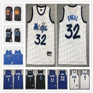 2020 personnalisée orlando hommesmagie 32 shaquilleO'Neal 1 pennyHardaway 00 aarongordon noir Throwback Basketball Jersey