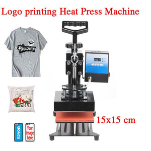 6x6 Inch Sublimation Logo Heat Press Machine Diy T Shirt Hoodie Pillow Case Phone Cover Transfer Printer