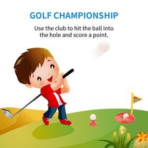 jouets de divertissement Kid série golf jouets de sport de haute qualité multiples couleurs multiples accessoires à la fois garçon et une fille