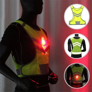 LED Light Vest Outdoor Cycling MTB Bike Bicycle Reflective Safety Warning Vest for Night Jogging Running Sports