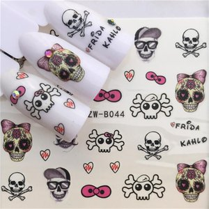 Nail Stickers Cat Flowers Flamingo Animal Water Transfer Decals Tattoo Decoration Foils Wraps Manicure Accessories