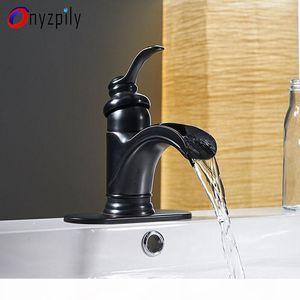 Onyzpily torneira Bacia torneira Banheiro ORB Cachoeira Bico Toque Mixer torneira Deck Montado Sink Mixer Torneira Banheiro