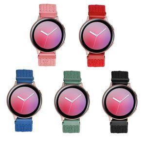 مضفر حلقة الأشرطة ل Garmin Samsung AmazFit 20MM 22MM حزام مرونة الذكية ووتش النايلون الفرقة accessoires s m l 5 ألوان