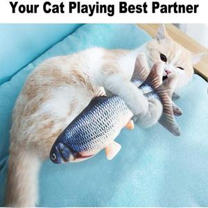 Elektrikli Kedi Oyuncak Balık USB Şarj İnteraktif Gerçekçi Pet Kediler Kediler İyi için oyuncaklar disket Balık Kedi oyuncak Pet Malzemeleri Bite Chew