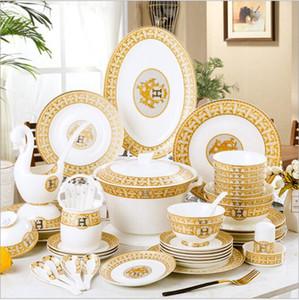 Royal Style 28pcs e 60 pcs Bone China Atacado Preço Cerâmica Talheres de Tabela de Luxo Offegrazed Color Louça de Louça