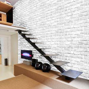 PVC 벽지 현대 3D 스테레오 화이트 벽돌 벽 종이 거실 룸 홈 인테리어 셀프 접착 방수 비닐 스티커 식사