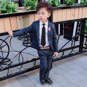 suit gentleman causal set retro little style boy solid blazer pants set for 3-8years boys kids children classi