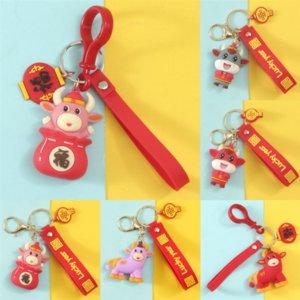 XUS Kreativer Brief Lucky Bag Bull Anhänger Schlüsselanhänger Väter Puzzle Keychain Tag Kleine Geschenke für das Jahr der Ochsengeschenke für beste Welt
