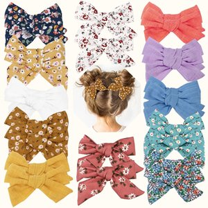 2 Pcs lots Korea Girls Knotted Hair Bows Fashion Kids Hair Clips Bowknot Hairpin Hairgrips Barrettes Baby Hair Accessories