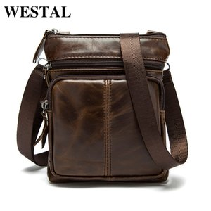 WESTAL men's shoulder bag for men genuine leather handbag small male casual messenger small phone crossbody bags designer 701 201006