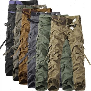 2021 spring Autumn army tactical pants Multi pocket washing loose army green cargo pants men casual Tooling pants 28 42