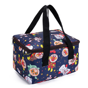 MABULA Large Cartoon Cooler Bag Insulated Leakproof Sided Portable Lunch Box for Outdoor Travel Beach Picnic Camping BBQ Party 201006