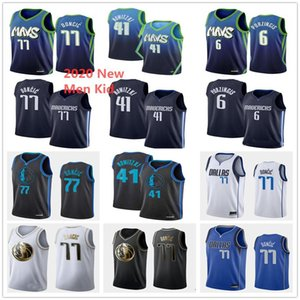 2020 Men Kids DallasMaverick Edition Luka Doncic 77 Basketball Jerseys Youth Dirk Nowitzki 41 Kristaps Porzingis 6 Stitched Jerseys