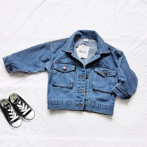 New Autumn Kids Jacket For Girls Ripped Hole Children Jeans Coats Mommy and Me Clothes Boys Girl Demin Outerwear Costume 24M-7Y 201109
