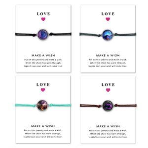 Time Gem Bracelet Multilayer Woven Bracelet Gifts For Women Jewelry Adjustable Wax Rope Bracelet
