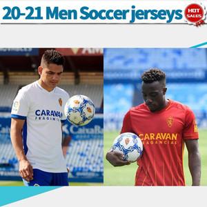 2021 Real Zaragoza трикотажных изделий футбола VAZQUEZ Сапатер MIGUEL 20/21 Мужские рубашки футбола дома прочь настроить футбольную форму