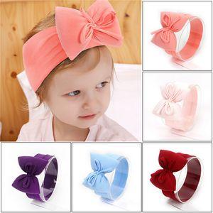 2020 New Baby Headbands Big Bow Cotton Soft Hair Bands Elastic Wide Headband Children Boys Girls Kids Headwraps Hair Accessories