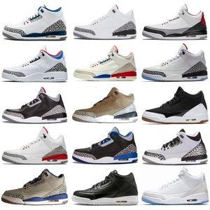 Homens 2019 Basketball 3 Melhores Shoes New Qualidade 3s Mens Black White Cement Coreia do Katrina OG Sneakers Tamanho US7-13 EUR40-47