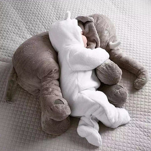80cm Plush Elephant Toy Baby Sleeping Back Cushion Soft Stuffed Pillow Elephant Doll Newborn Playmate Doll Kids Birthday Gift LJ201126