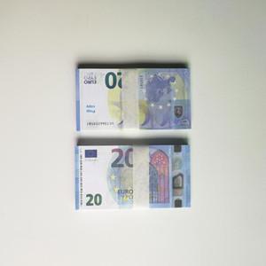 Wholesale PROP ARGENT 10 20 50 100 EUROS DOLLAR DOLLAR FAUS MONDRE MONDIURE MONDIALE FAUX BILLET PLAY Collection et cadeaux 100pcs / Pack