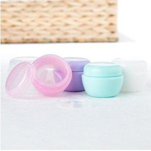 Spedizione gratuita 18 pz 20ml Contenitori cosmetici di funghi vuoti con coperchi da 20g Plastica Piccola bottiglia di viaggio riutilizzabile