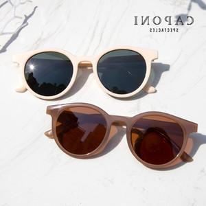 CAPONI gafas de sol de la vendimia de las mujeres 2020 nuevas gafas polarizadas Ronda retro Niños Gafas de sol Ray Cut marca de diseño femenino Sombras