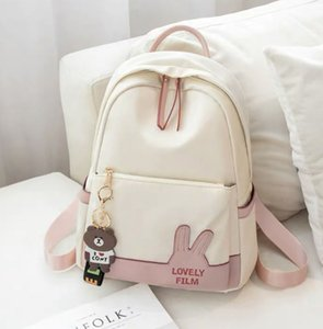 Big faced rabbit Oxford backpacks for women