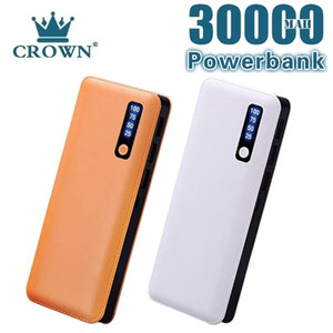 Power Bank 30000MAh Portable 3 USB Led Digital Display Powerbank Fast Charging External Battery for Smart Phone Free Shipping