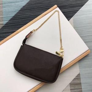 Classic Mini Senhoras Cross Body Bagha Caixa de Presente M58009 Essentials Pequeno bolsa Mulheres Designer Pequena Embreagem De Couro Senhora Crossbody With Chain