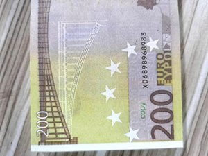 Simulation euro banknote prop currency DIY children's props game currency euro game prop currency 297