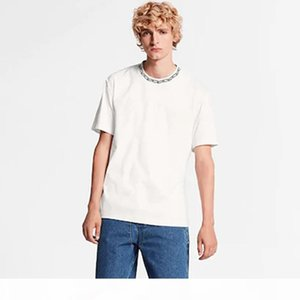 20FW Black Chain High Street Tee Classic Simple Casual T-Shirt Solid Color Short Sleeves Men Women Summer Crew Neck Tee HFYMTX708