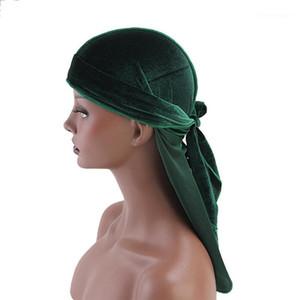 Long Tail Silky Scarf Muslim Doo Rag Pirate Hat Durag Chemo Cap Skull Turban Hair Band Bandanas 12 Colors For Choose1