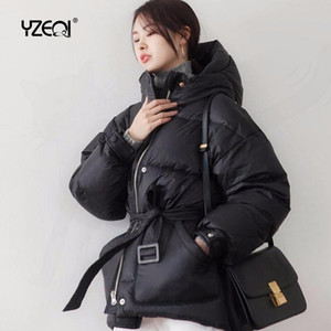 Yzeqi Women Waterproof Ultra Light Hooded Winter Down 90% White Duck Down Warm Coat Puffer Jacket Female Casual Thick Parka 2020