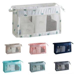 5UvI InviteL Korean Mesh cosmetic Hand high quality cosmetic Travel storage wash cosmetics storage bag hand portable