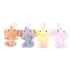 Netter 1pc 12cm Elefant Plüschtiere Plüschtiere Schlüsselring Spielzeug Puppe TV Movie Charakter Kleiner Anhänger PP Cotton Unisex