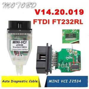 2020 NUOVO MINI VCI V14.30.023 TIS MINI VCI J2534 Supporto TIS Techstream Mini-VCI FTDI FT232RL Cavo diagnostico OBDII 22 Pin1