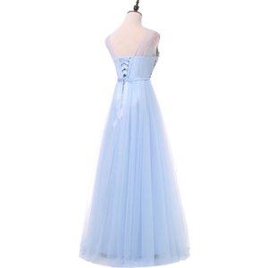 Fadistee Nueva Llegada Lujo Vestidos de Largo Estilo Vestido Bling Beading Tul Tulle Vestidos de noche Partido de Prom Pearls Longitud del piso LJ201224