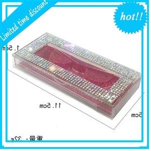 wholesale Square lash packaging fake 3d mink cases box faux cils strip diamond magnetic eyelash case empty