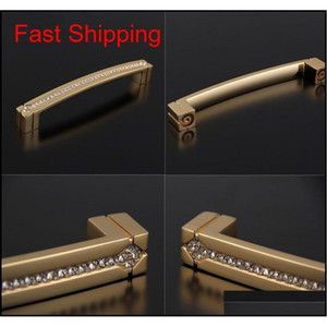 Luxury Cabinet Knobs 24k Real Gold Czech Crystal Drawer Door Handle Furniture Knobs Pull Handles Never F jllaGP xmh_home