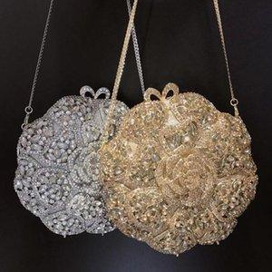 Borse da sera Xiyuan Floral Crystal Borsellino frizione di cristallo elegante Diamond Diamond Borse a tracolla Handbags High-end Lady frizioni