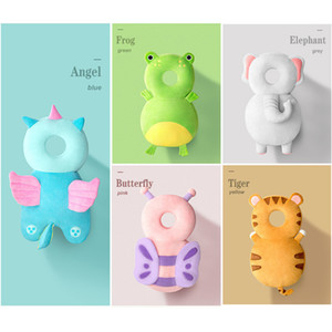 Newborn Toddler Baby Head Protection Pad Cushion Headrest Cartoon Soft Security Pillows Angel Butterfly Backpack Fall Protection LJ200821