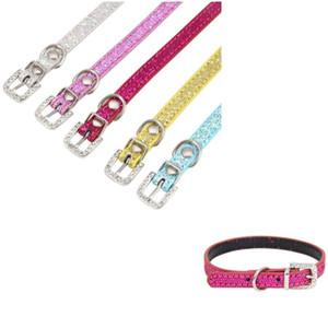 Brilhante Collar Reflection Relaxe Anti Lose Ajustável Crystal Inlay Multi Cor Pequeno Pet Dogs Cães Corda Corda Ao Ar Livre 5 3zr K2