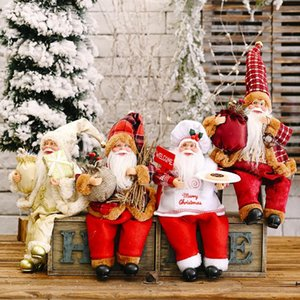 2021New Year Santa Claus Fabric Dolls Christmas Ornament Home Decorations for Christmas Toys for Kids Xmas Navidad Christma Gift
