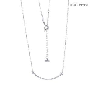 입 웃음 목걸이 도매 패션 목걸이 디자이너 쥬얼리 스테인레스 스틸 체인 목걸이 여자 골드 다이아몬드 목걸이