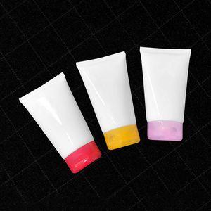 150мл Перезаправляемые Squeeze Tube White Soft Tubes Concealer Foundation для лица Очищающий крем шланг для путешествий Примеры 30шт / много