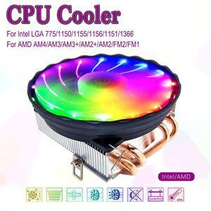 4 Heatpipes CPU Cooler 4pin PWM LED 120mm Cooling Fan Radiator Heatsink for Intel LGA 1150 1151 1155 1156 for AMD AM3+ AM3 AM2 +