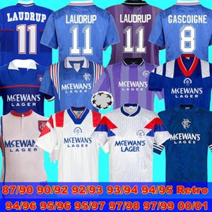 1992 93 Rangers Retro 87 90 92 93 94 95 96 95 97 98 99 00 01 Glasgow Rangers rétro Jerseys Soccer Gascoigne Laudrup Mccoist Soccer Jerseys