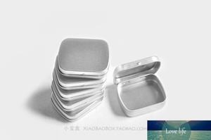 Wholesale- Free Shipping 10pcs lot Frosted Mini Iron Tin Box High Quality Portable Silver White Tin Box Jewelry Stamp Storage Box